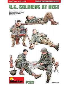 Miniart 35318 US Soldiers At Rest (Special Edition) 1:35 Plastic Model Kit