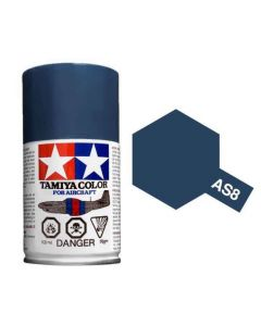 Tamiya AS-8 Navy Blue (US Navy) 100ml Spray Paint for Scale Models - 86508