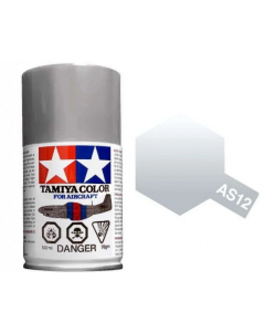Tamiya AS-12 Bare Metal Silver 100ml Spray Paint for Scale Models - 86512