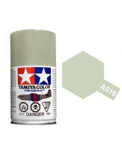 Tamiya AS-16 Light Gray (USAF) 100ml Spray Paint for Scale Models - 86516