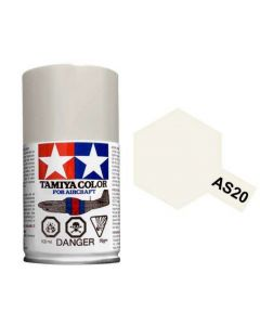 Tamiya AS-20 Insignia White (US Navy) 100ml Spray Paint for Scale Models - 86520