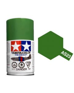 Tamiya AS-23 Light Green (Luftwaffe) 100ml Spray Paint for Scale Models - 86523