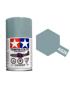 Tamiya AS-26 Light Ghost Grey 100ml Spray Paint for Scale Models - 86526