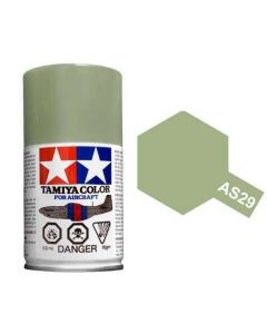 Tamiya AS-29 Grey-Green 100ml Spray Paint for Scale Models - 86529