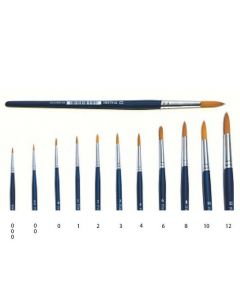 Italeri 0/2 Synth Round Brush W Brown Tip - A51284